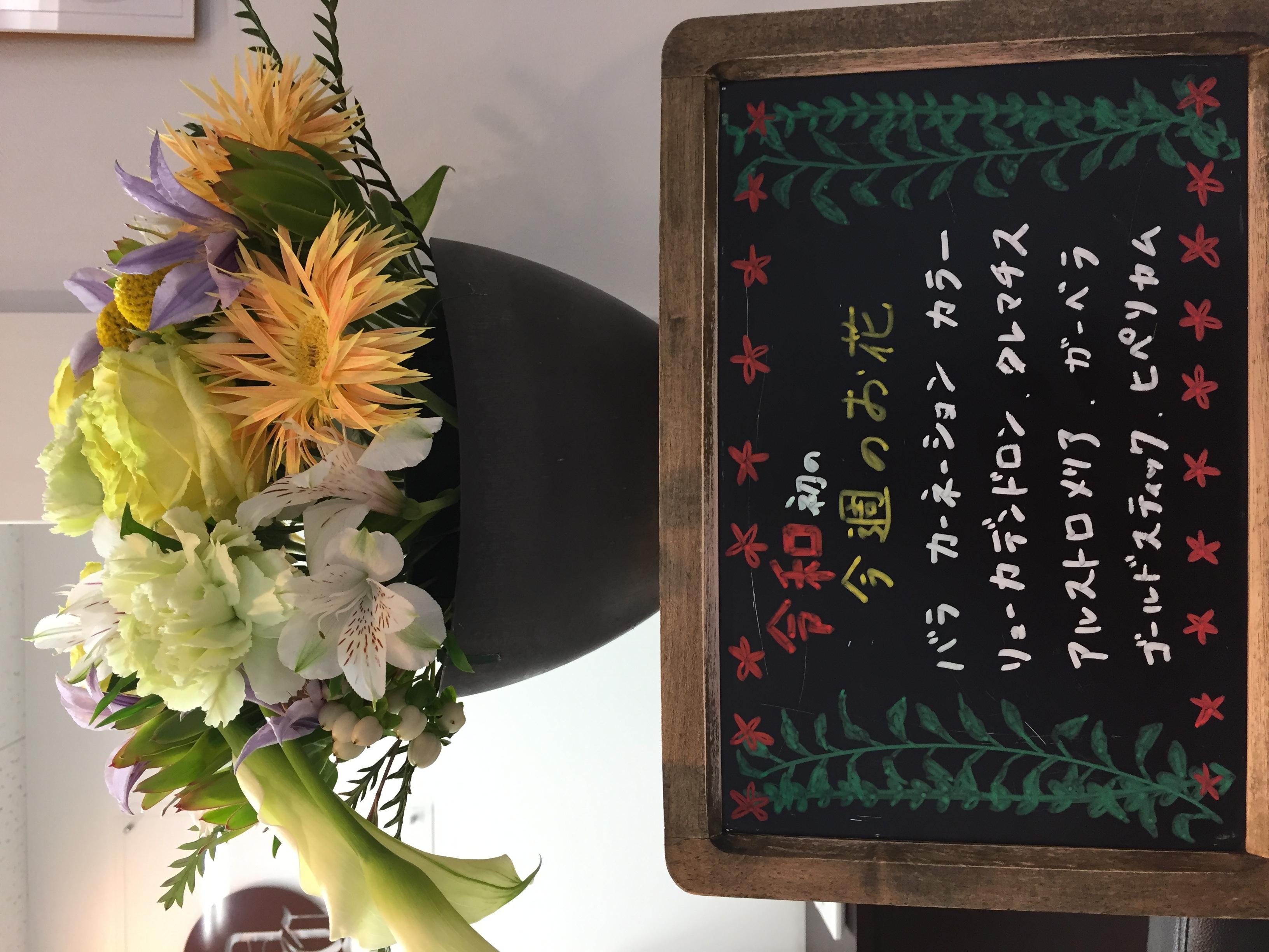 今週(5月7日〜)のお花