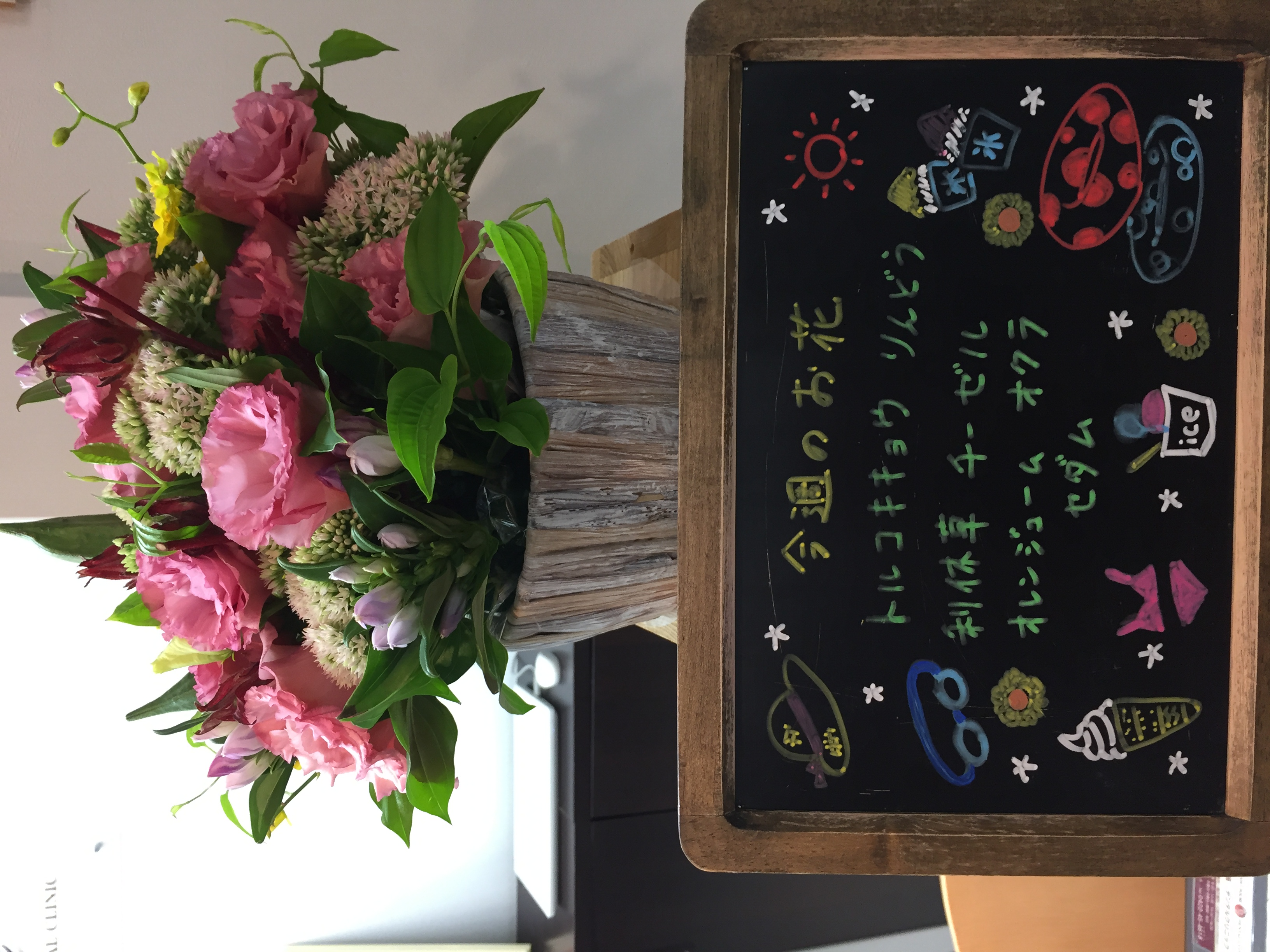 今週(8月26日〜)のお花
