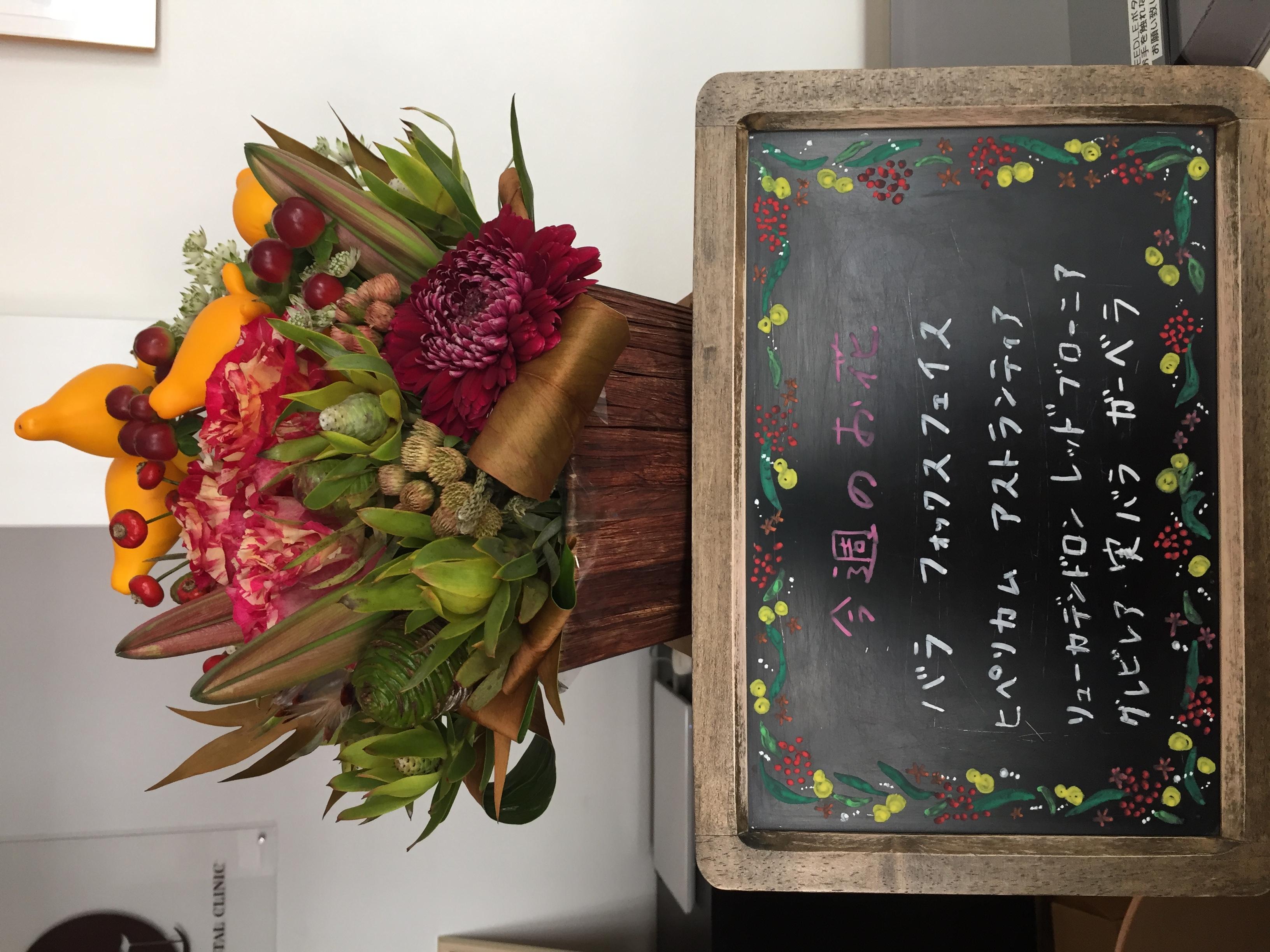 今週(11月18日〜)のお花