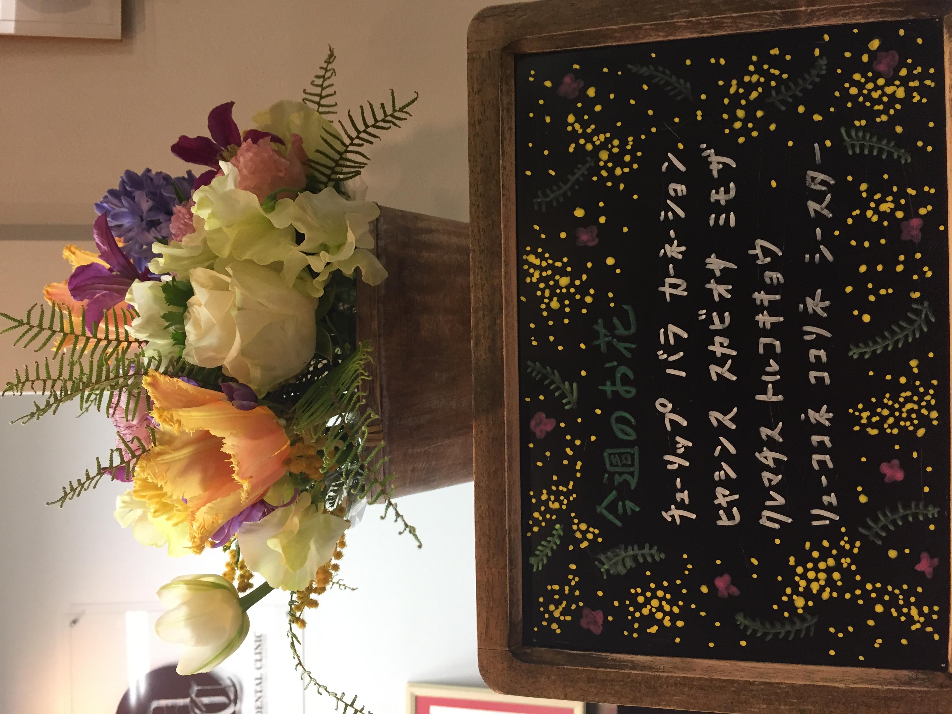 今週(3月2日〜)のお花