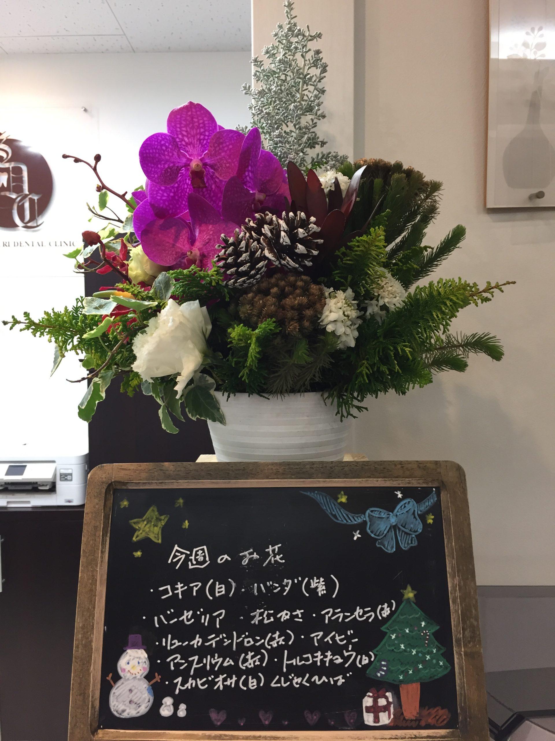 今週(11月30日〜)のお花