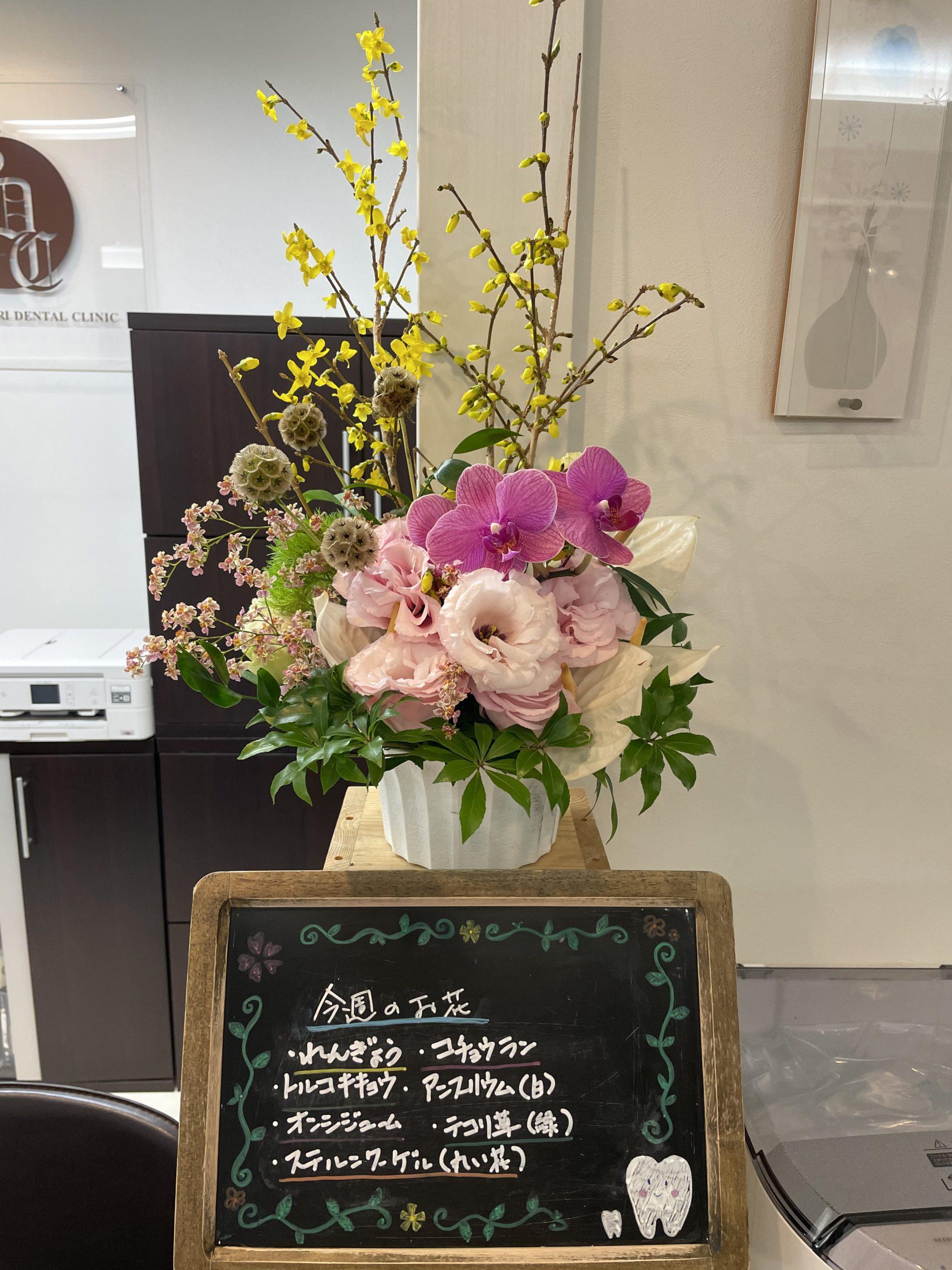 今週(3月29日〜)のお花