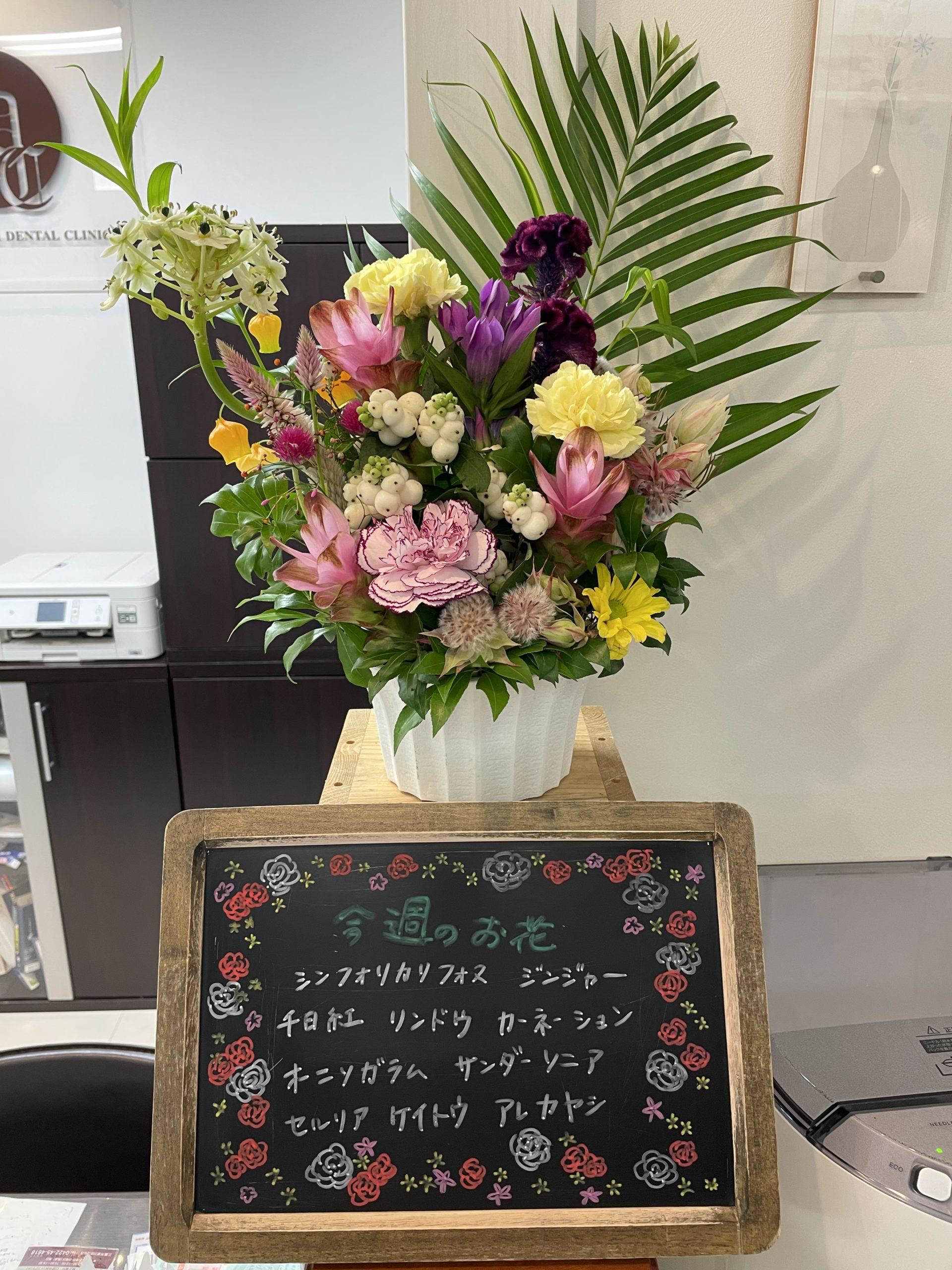 今週(9月21日〜)のお花